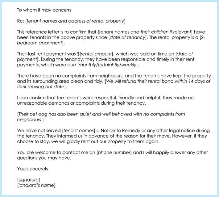 Rental Reference Letter - 9+ Samples, Formats for Prefessionals - reference letter for apartment
