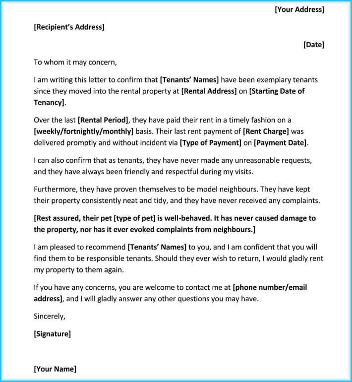 Rental Reference Letter - 9+ Samples, Formats for Prefessionals