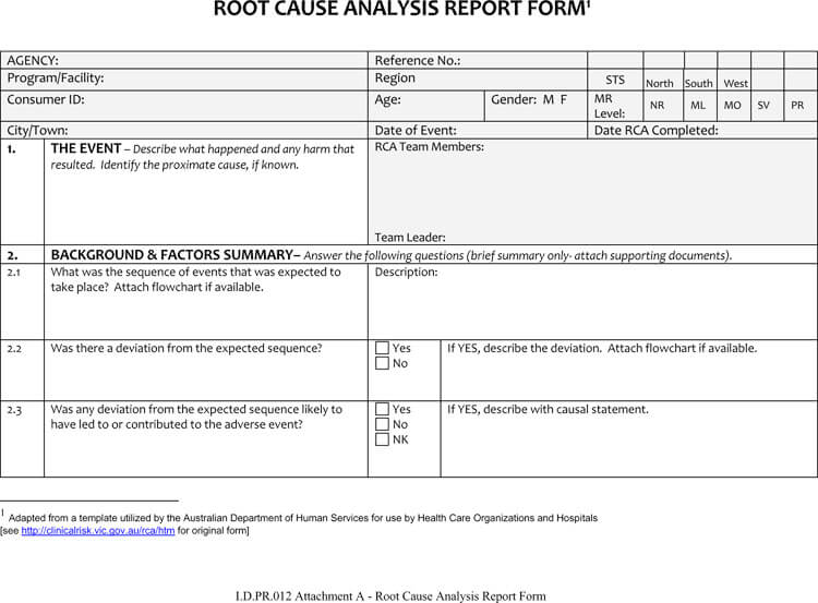 24+ Root Cause Analysis Templates (Word, Excel, PowerPoint and PDF) - analysis report template