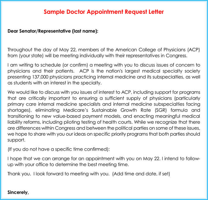 Doctor Appointment Letter - 10+ Samples  Formats in PDF - thank you letter to doctor