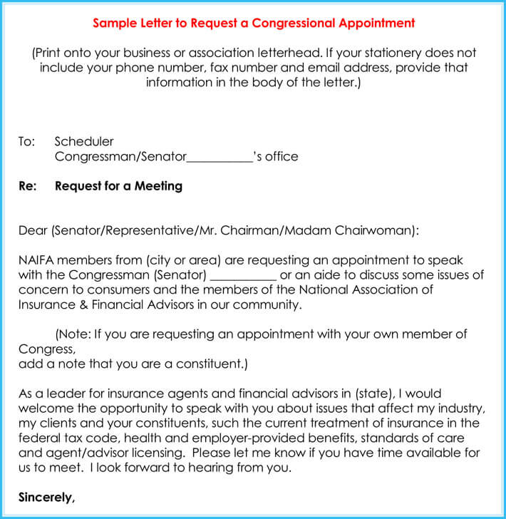 Sample Appointment Request Letter - 10+ Formats in Word  PDF