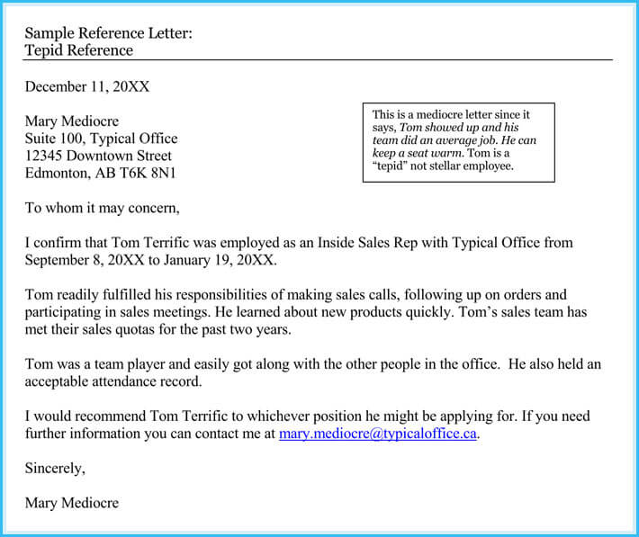 Reference Letter Examples - 20+ Samples, Formats  Writing Tips