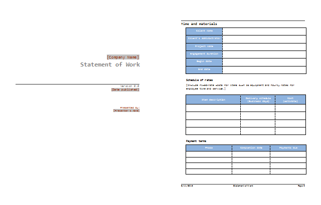 sow example template