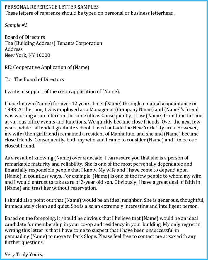 Work Reference Letter - Templates to Write Professional Reference Letter