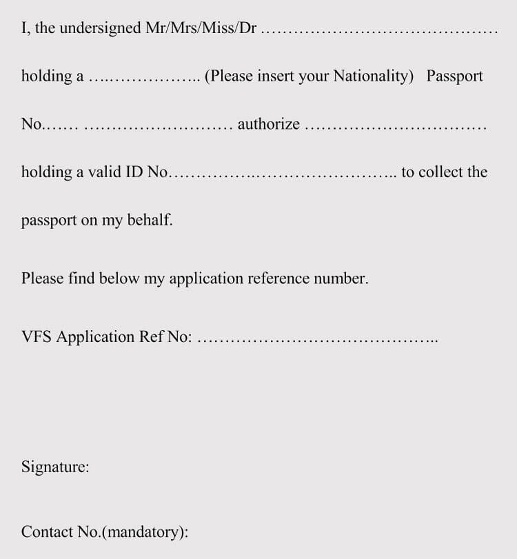 Authorization Letter to Collect Passport (5+ Samples  Templates)