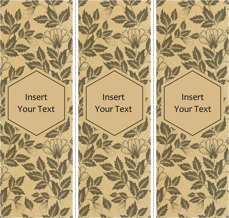 free bookmark templates microsoft word