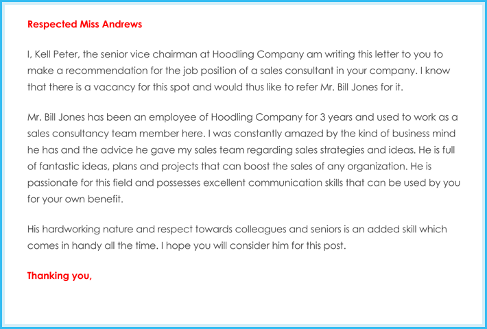 sample request for letter of recommendation