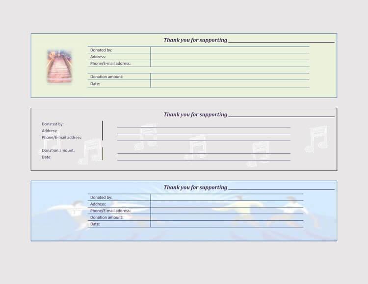 45+ Free Donation Receipt Templates  Formats (Docx, PDF)