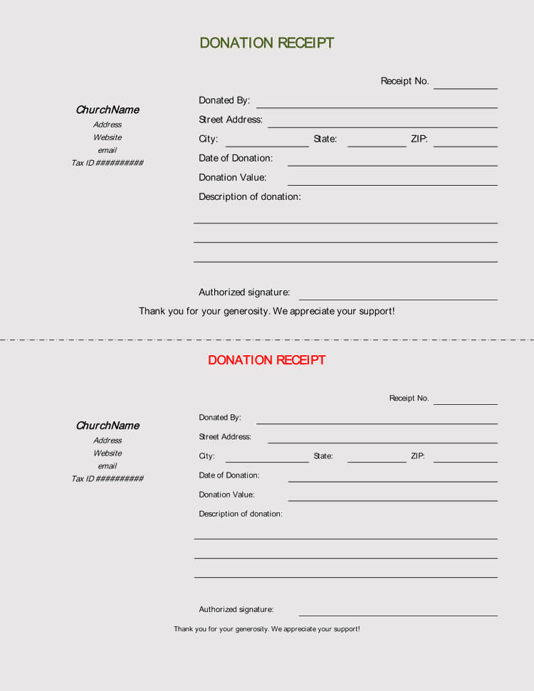 45+ Free Donation Receipt Templates  Formats (Docx, PDF)