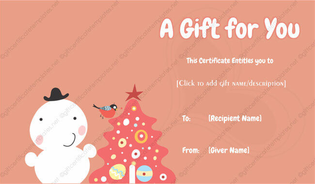 free gift certificate template printable