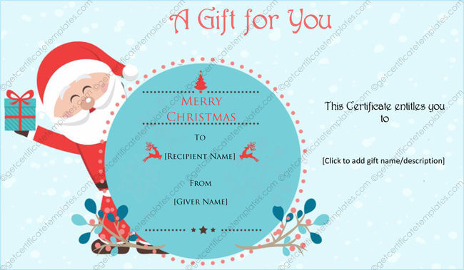 Christmas Card Templates - Templates for Microsoft® Word - christmas gift card templates free