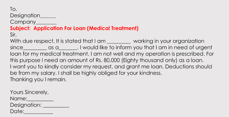 example of loan application