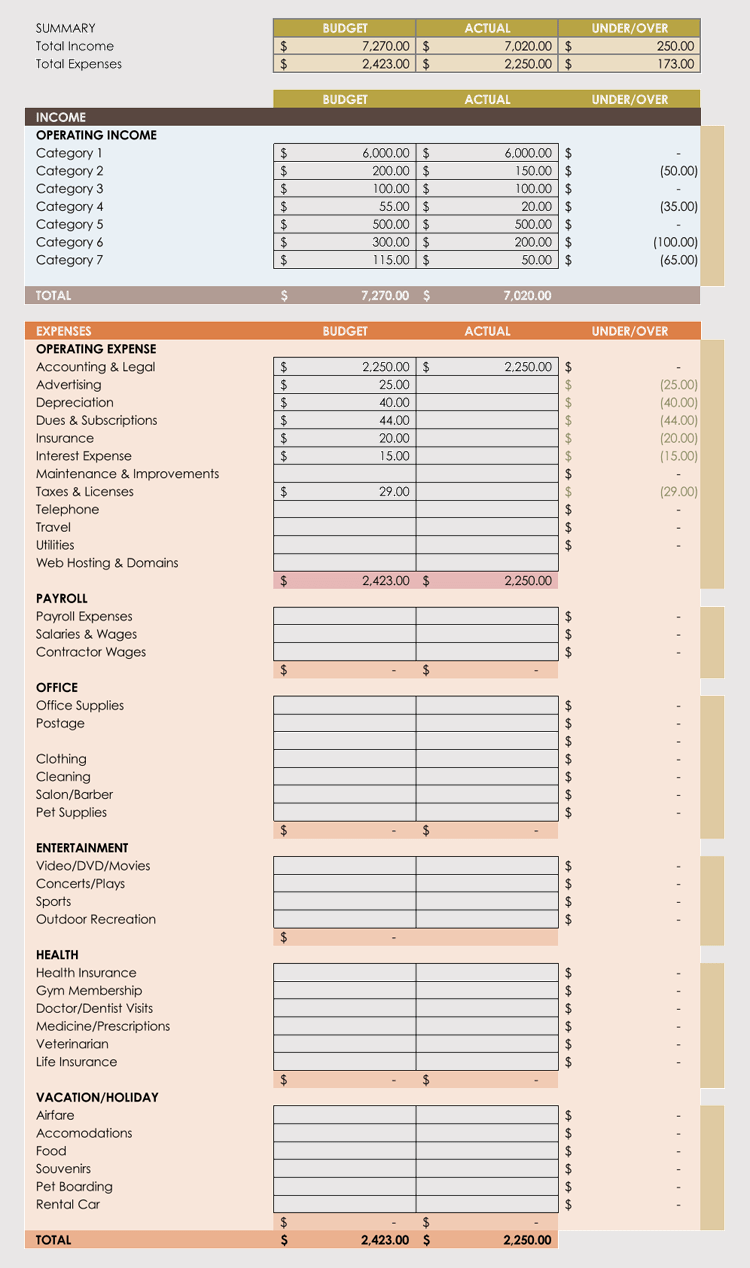 personal expense tracking
