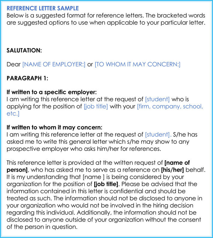 online recommendation letter