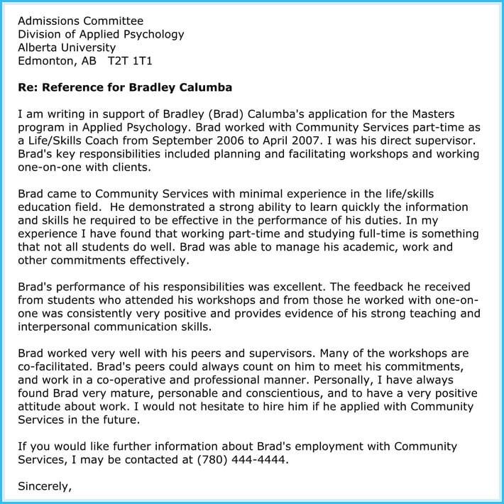 reference letter for teacher position