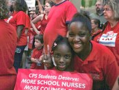Support for Chicago teachers in September.Photo: Chicago Teachers Union Local 1