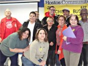 Organizers of Feb. 8 forum at Hostos Community College.WW photo: Ellen Catalinotto