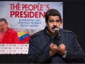 Nicolas Maduro speaking at Hostos Community College in the Bronx.