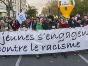 "Paris, November 2013. The banner says, ""Youth racism"