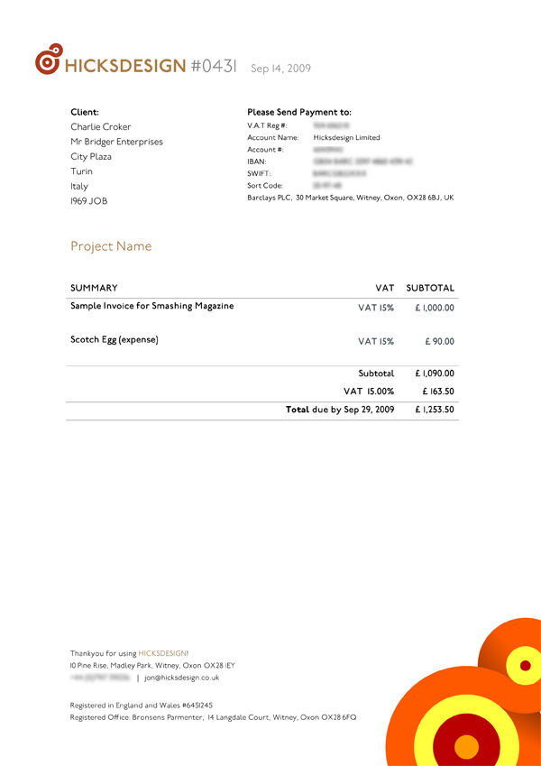 Think Your Invoice is Boring? Here Are The Top 25 Beautiful Designer