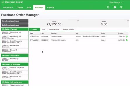 Online Purchase Order Management Software WorkflowMax