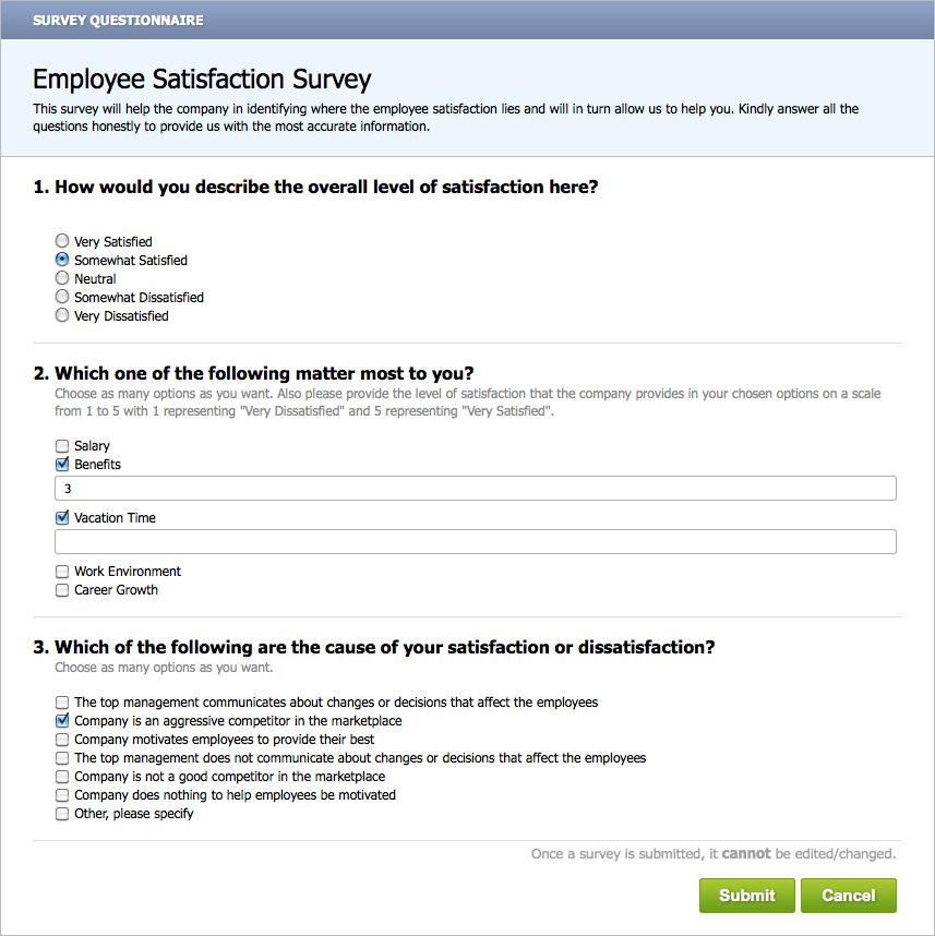 Employee Retention - Surveys - job satisfaction survey template