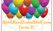 WorkHardTravelWell.com Turns 3 +Giveaway