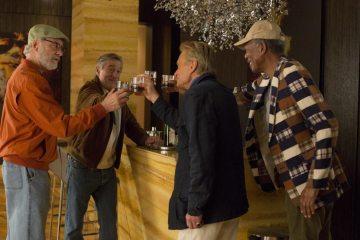 Kevin Kline, Robert De Niro, Michael Douglas and Morgan Freeman share a toast.