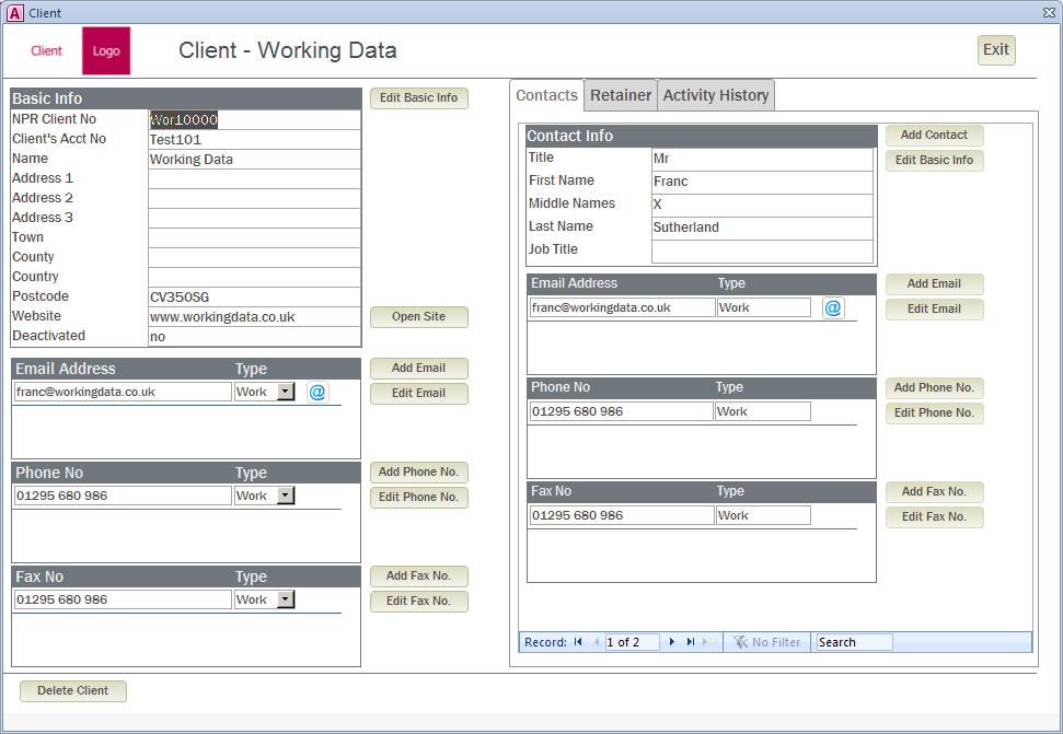 A Sales Order Entry Form - Working Data - sales order form