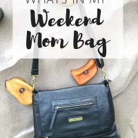 What's in my Weekend Mom Bag