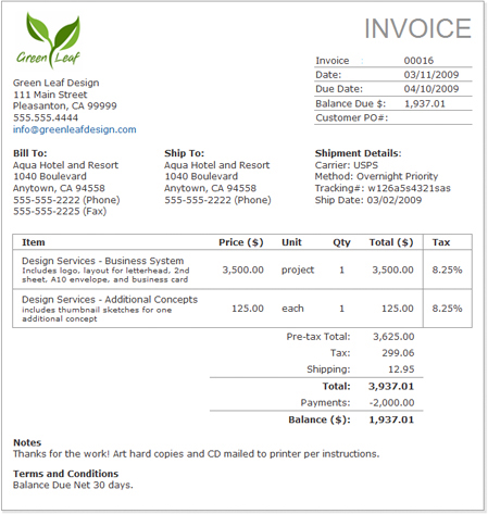 Small Business Invoice Software WorkingPoint