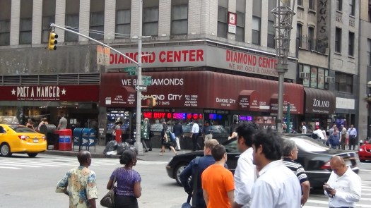 West 47th St and 6th Ave - The Diamond District in Manhattan