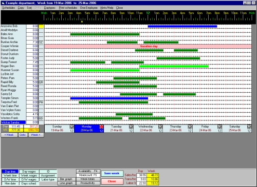 Guia International - Scheduling Employees for Windows v40 - Trial