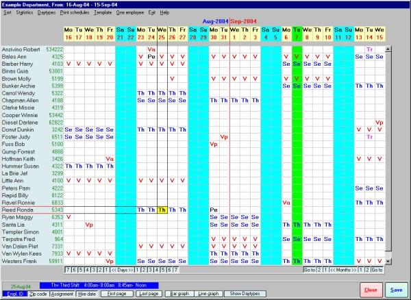 Download Employee Schedule Template Excel Excel Project - teacher resume example