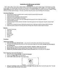12 Best Images of Microscope Lab Worksheet - Compound ...