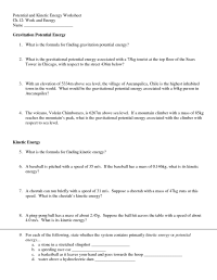 11 Best Images of Potential And Kinetic Energy Worksheets ...