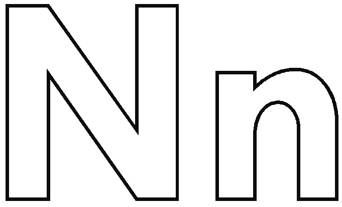 Gallery of letter n is for nose coloring page free printable - n for
