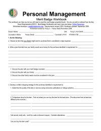 6 Best Images of Personal Management Merit Badge Worksheet ...