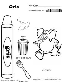7 Best Images of Color Gray Worksheets - Spanish Colors ...