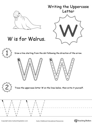 10 Best Images of Printable Letter W Tracing Worksheets Preschool