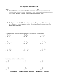 17 Best Images of Pre- Algebra Worksheets - Free Printable ...