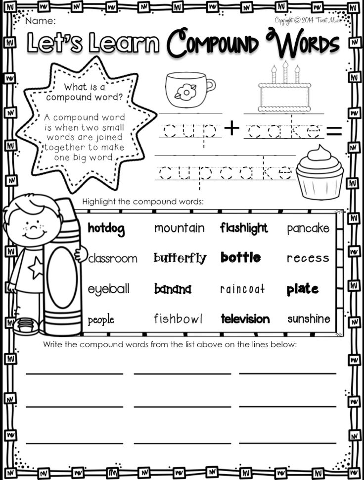 17 Best Images of Compound Words Worksheet Grade 1 - Free First