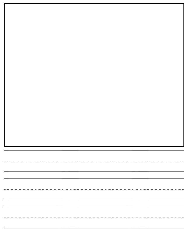 kindergarden writing paper - Intoanysearch - blank lined page