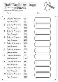 10 Best Images of Percent Change Worksheet - Math Percent ...