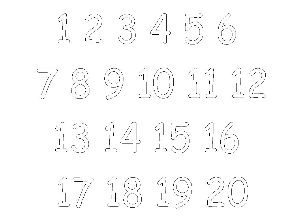 16 Best Images of Numbers 1- 20 Worksheets - Kindergarten Tracing