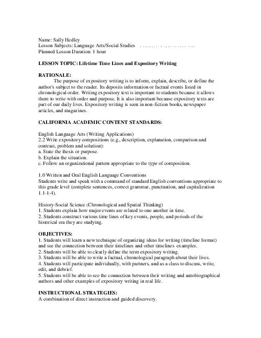 Activities for writing an expository essay - Expository Essay