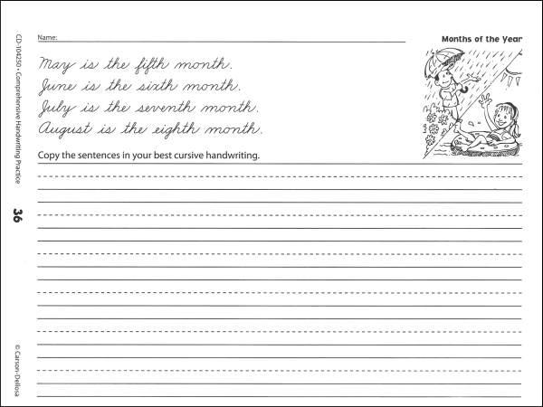 Comfortable 10 Best Images Of Printable Cursive Sentence Worksheets