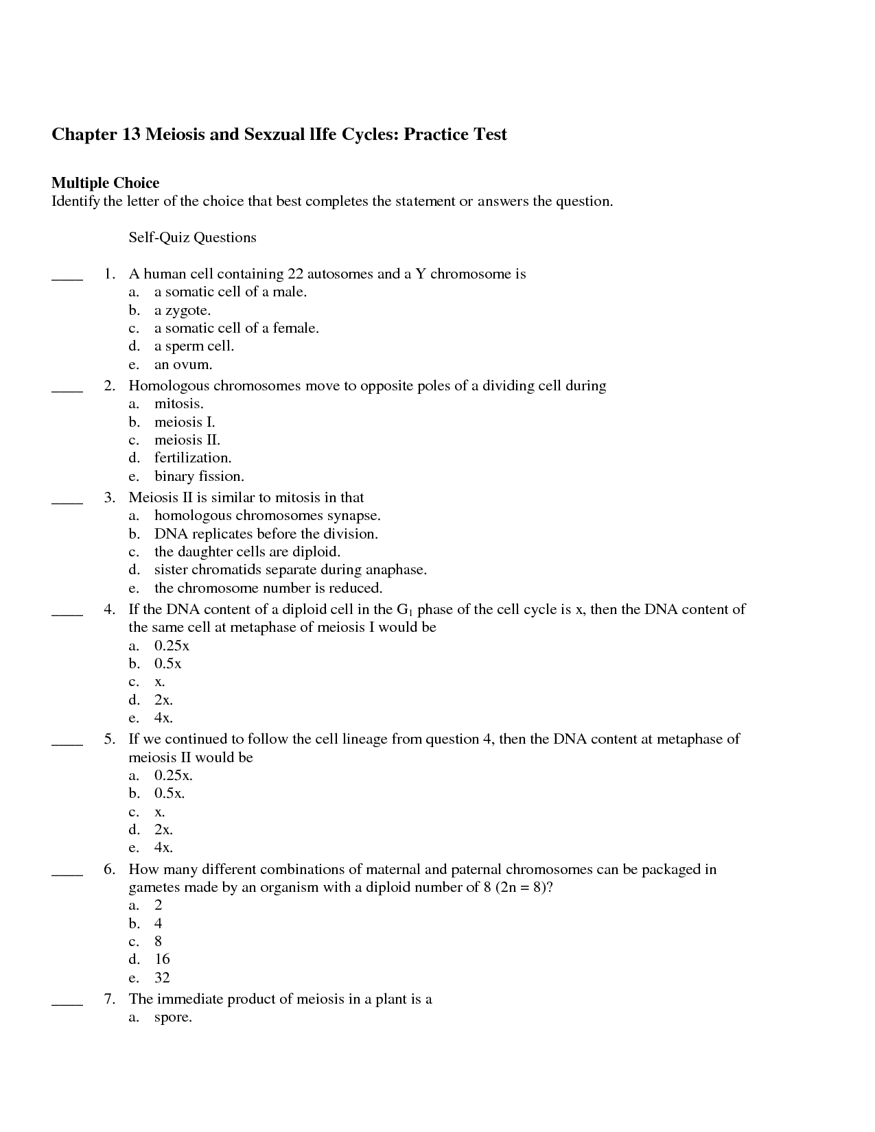 Biology MCAS Multiple Choice Practice   Mitosis and Meiosis by Kelly as well 15 Best Images of Mitosis And Meiosis Worksheet Answers    paring likewise Section 11 4 Meiosis Worksheet Answers   Winonarasheed in addition Worksheet    paring Mitosis and Meiosis  EDITABLE    TpT additionally Meiosis Worksheet Answer Key   Oaklandeffect in addition Chapter 5 The Cell Cycle  Mitosis  and Meiosis further Integrated Science Cycles Worksheet Answers Meiosis Reading additionally Mitosis questions  practice    Cell division   Khan Academy in addition  besides Main Idea Multiple Choice Worksheets Mitosis Vs Meiosis Worksheet together with Review Sheet Mitosis  Meiosis  DNA and RNA further  also worksheet  Meiosis Worksheet Multiple Choice Answers  Carlos Lomas further The Biology Coloring Book Answers Pages  paring Mitosis And in addition 17 Best Images of Mitosis Versus Meiosis Worksheet Answer Key additionally Meiosis Lesson Plans   Worksheets   Lesson Pla. on meiosis worksheet multiple choice answers
