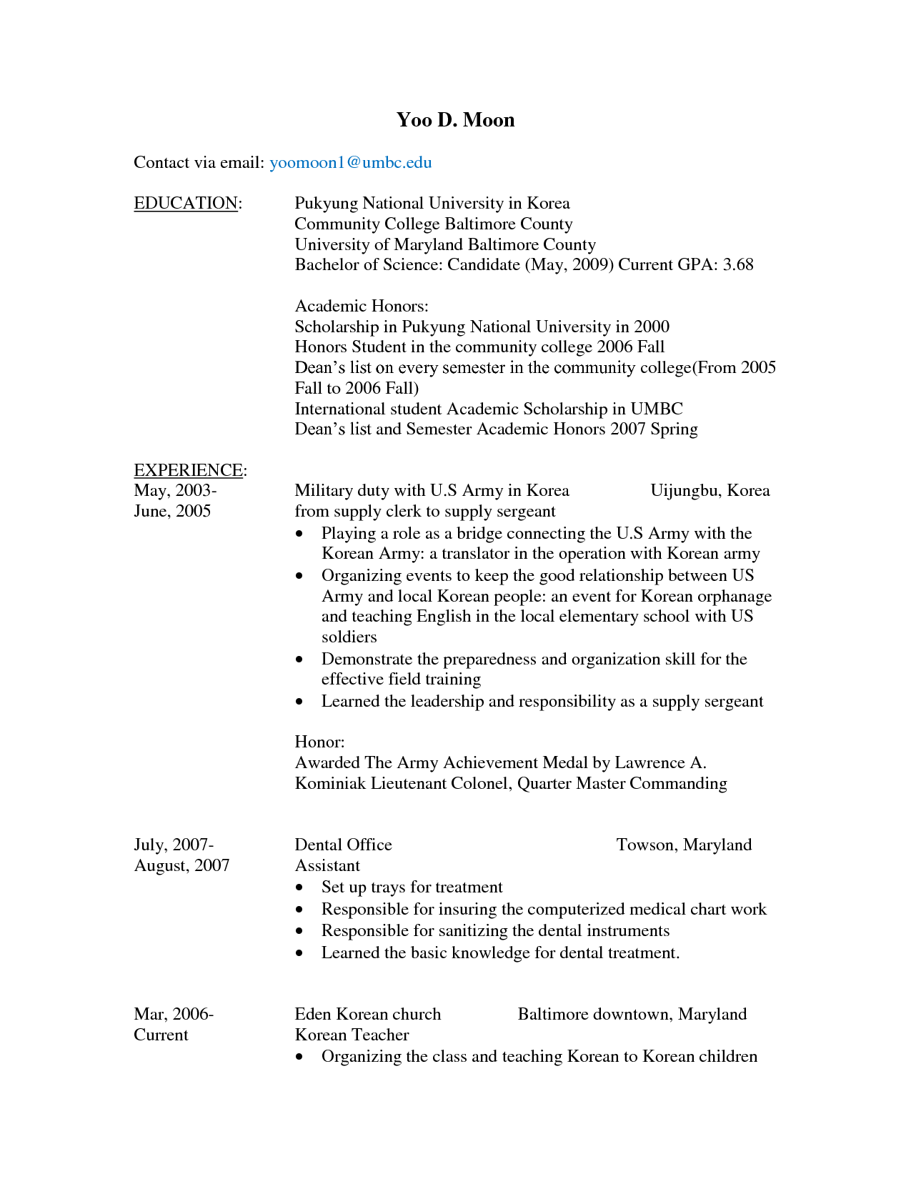 how to fill a resumes
