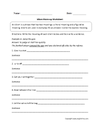 16 Best Images of Idiom Worksheets 4th Grade - Free Idiom ...